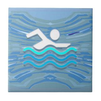 SWIM Swimmer Success Dive Plunge Success NVN238 Tiles