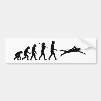 Swim Swimming Sport Evolution Bumper Sticker