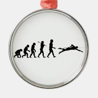 Swim Swimming Sport Evolution Christmas Ornament