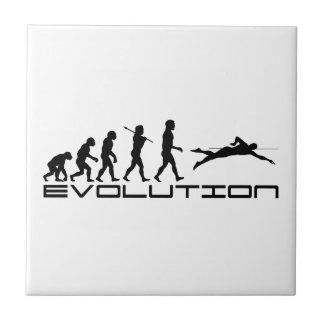 Swim Swimming Swimmer Sport Evolution Art Small Square Tile