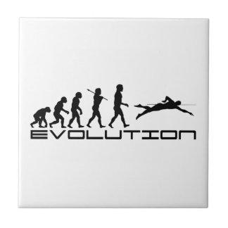 Swim Swimming Swimmer Sport Evolution Art Small Square Tile
