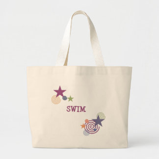 Swim Swirl Large Tote Bag