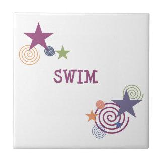 Swim Swirl Ceramic Tiles