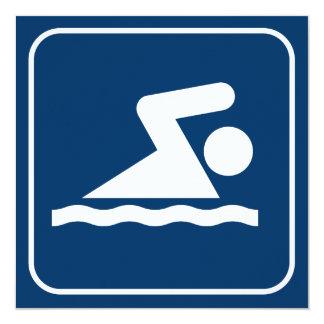 Swim Symbol Invitation