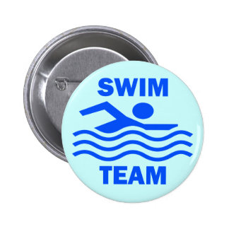 SWIM TEAM PINBACK BUTTON