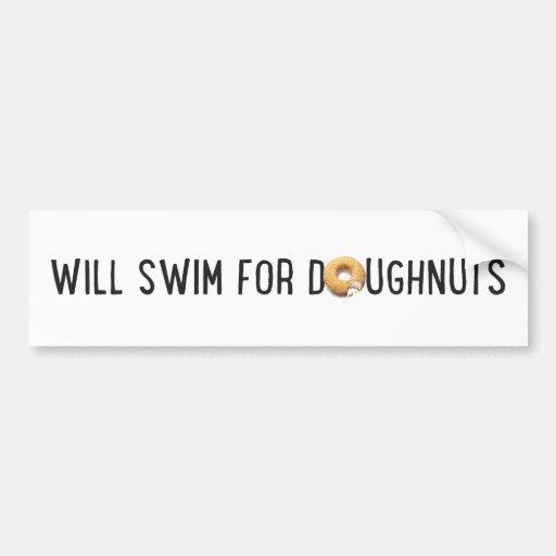 Swim Team, funny doughnuts, swimmer Bumper Sticker