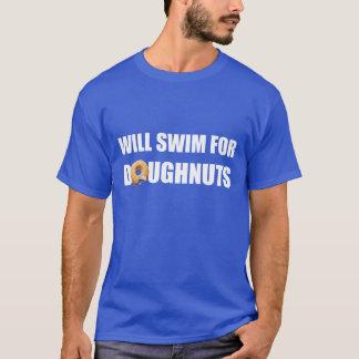 Swim Team, swimming, funny doughnuts. custom T-Shirt