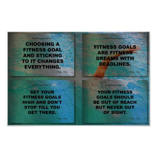 Swim to Reach Your Goals! Poster