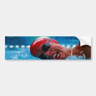 Swim to win bumper sticker