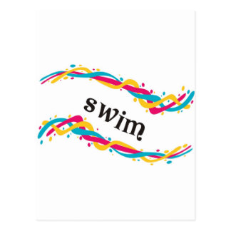 Swim Twists Postcard