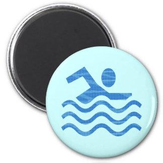 Swim Waves 6 Cm Round Magnet