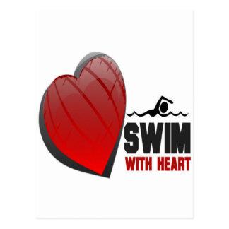 SWIM WITH HEART POSTCARD