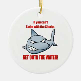 Swim with the Sharks Christmas Ornament