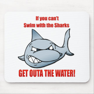 Swim with the Sharks Mouse Mat