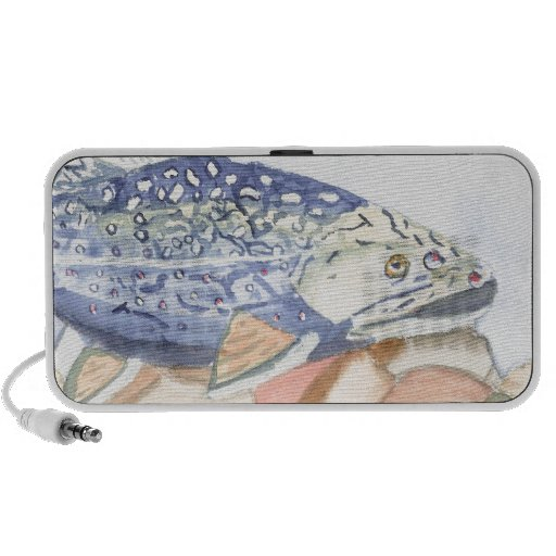 Swiming Trout watercolor Mp3 Speakers