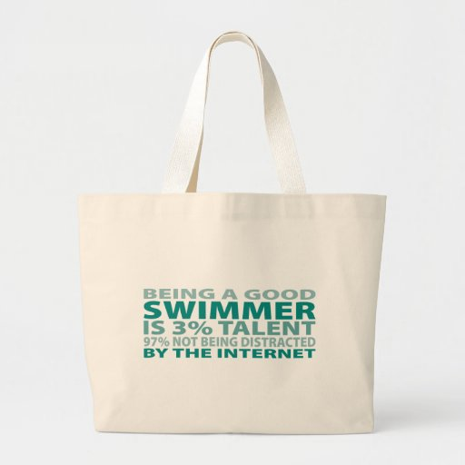 Swimmer 3% Talent Jumbo Tote Bag