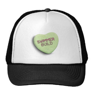 SWIMMER BUILD CANDY -.png Trucker Hat