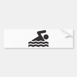 Swimmer Bumper Sticker
