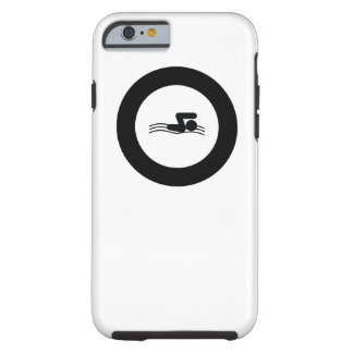 SWIMMER | cool sport icon in roundel Tough iPhone 6 Case