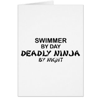 Swimmer Deadly Ninja by Night Card