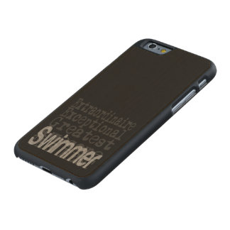 Swimmer Extraordinaire Carved® Maple iPhone 6 Slim Case