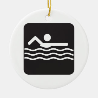 Swimmer Icon Christmas Ornament