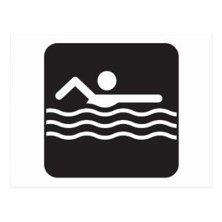 Swimmer Icon Postcard