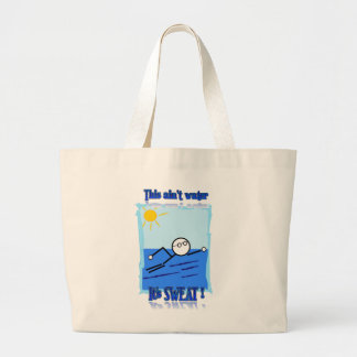 Swimmer Large Tote Bag