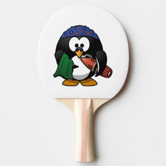 Swimmer Penguin Cute Cartoon Ping-Pong Paddle