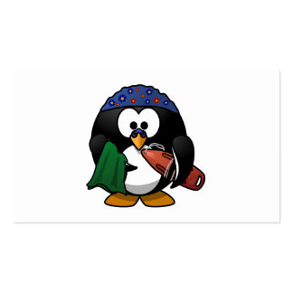 Swimmer Penguin Cute Cartoon Pack Of Standard Business Cards