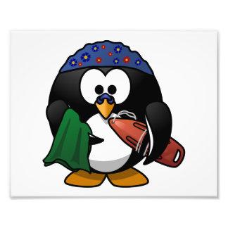 Swimmer Penguin Cute Cartoon Art Photo