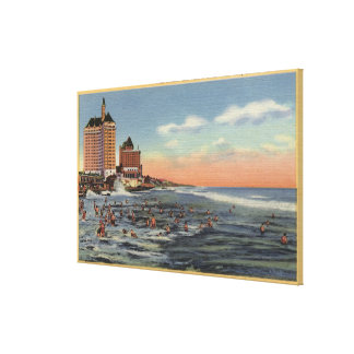 Swimmers by Villa Riviera & Pacific Coast Club Gallery Wrapped Canvas