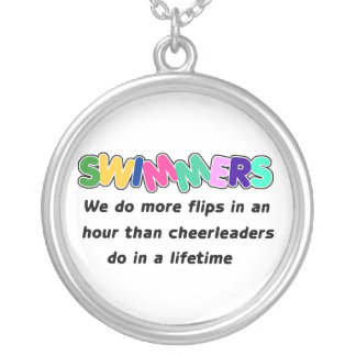 Swimmers & Cheerleaders Silver Plated Necklace