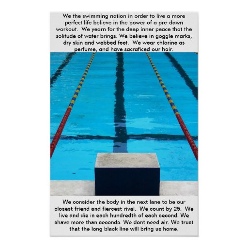 Swimmers Posters