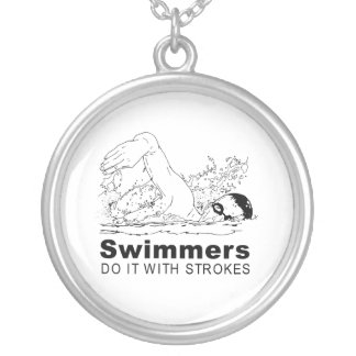 Swimmers Round Pendant Necklace