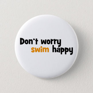 swimming 6 cm round badge