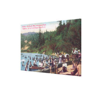 Swimming and Boating on the Russian River Canvas Print