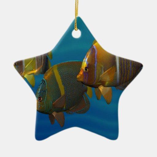 Swimming Angelfish Christmas Ornament