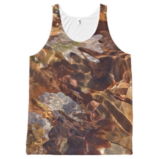 Swimming Autumn Leaves Abstract Photograpy Camo All-Over Print Tank Top