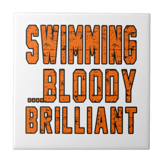 Swimming Bloody Brilliant Tiles