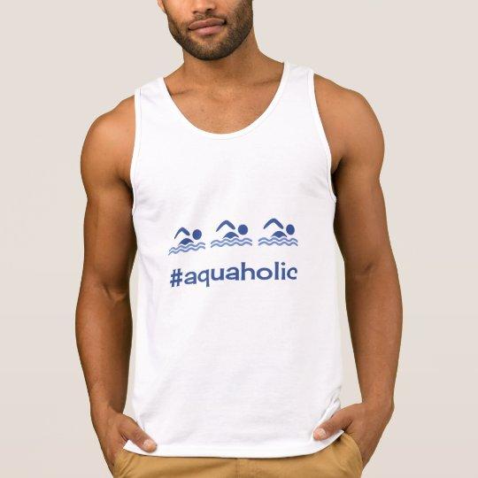 Swimming blue hashtag aquaholic