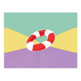 Swimming Buoys On Tri Color Background Postcard