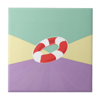 Swimming Buoys On Tri Color Background Tiles