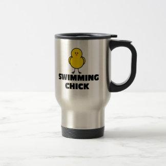 Swimming Chick Travel Mug