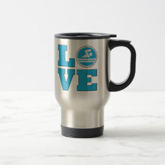Swimming Coach Swim LOVE Travel Mug