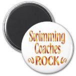 Swimming Coaches Rock 6 Cm Round Magnet