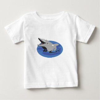 Swimming Dolphin Baby T-Shirt