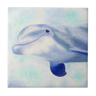 Swimming Dolphin Square Tile