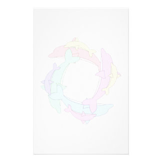 Swimming Dolphins And Babies Stationery