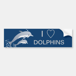 Swimming Dolphins Bumper Sticker